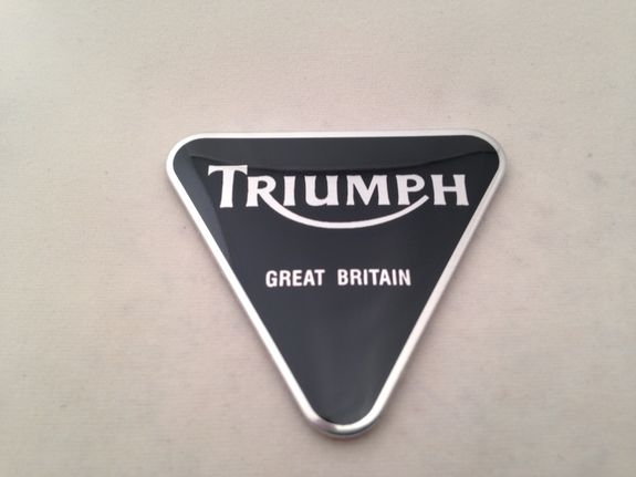 Triumph Sissy Bar Triangular Logo Badge