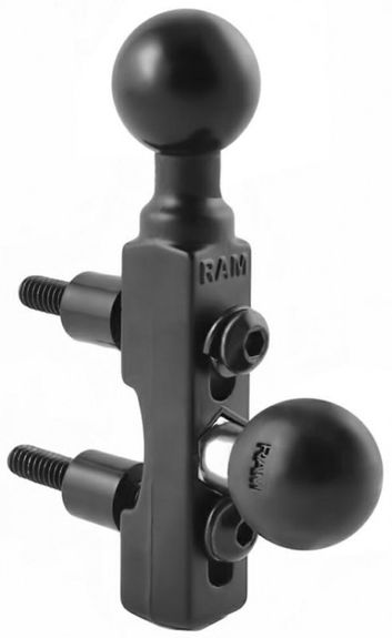 "Ram H/BAR BASE WITH 2 x 1"" BALLS*"