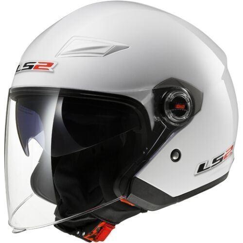 LS2 OF569 Track White Open Face Helmet