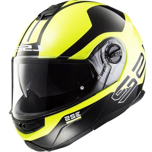 LS2 FF325 Strobe Flip Front Helmet Zone Black/Yellow