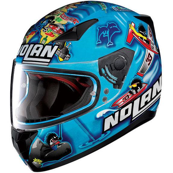 Nolan N60-5 Gemini Replica Melandri Metal Pearl Blue Motorcycle Helmet + Pinlock