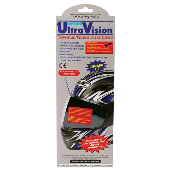 Oxford Ultra Vision Essential Tinted Visor Insert