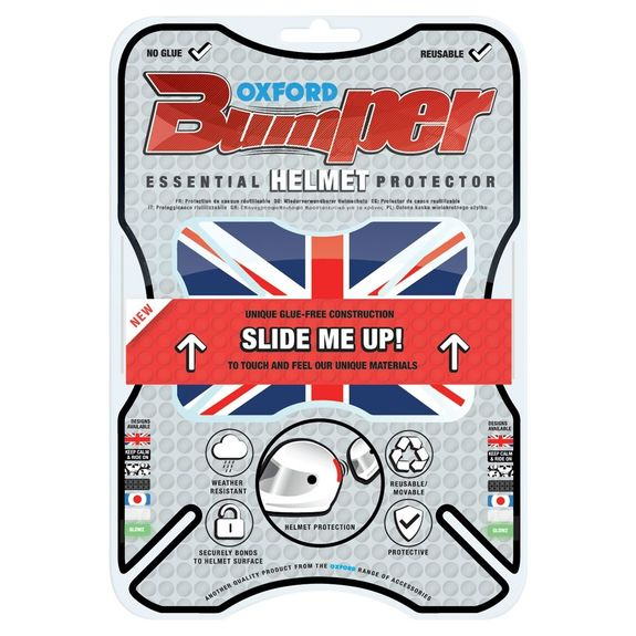 Oxford Bumper Essential Helmet Protector Union Jack