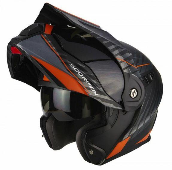 Scorpion ADX1 Dual Orange/Black Adventure Touring Helmet