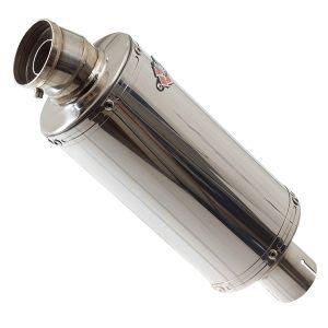 Lextek OP5 Polished Exhaust Silencer 250mm 51mm