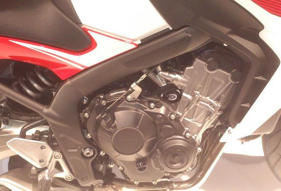 R&G Crash Protectors - Aero Style - Honda CBR650F  '14- and Honda CB650F '14- [Non Drill]