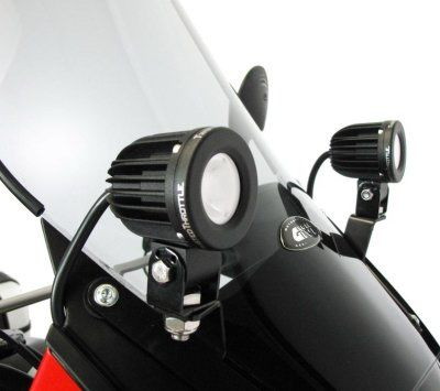 R&G Denali Fairing-mounted Light Brackets for '08- Kawasaki KLR650E